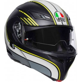 CASCO AGV COMPACT ST BOSTON NEGRO AMRILLO BLANCO