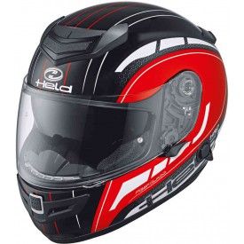 CASCO HELD BRAVE ROJO NEGRO BLANCO