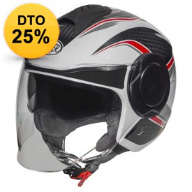 CASCO PREMIER COOL PX8 BLANCO ROJO
